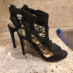 Vince Camuto heels with cord detailing